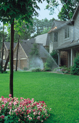 Automatic sprinkler systems keep your lawn green and beautiful