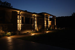 landscape lighting design in st louis metro lawn sprinklers and