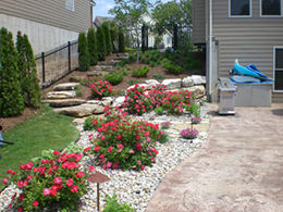 Mulch and Rock Bed Landscaping Service in St. Louis