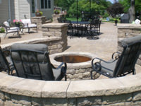 Paver fire pits accent your paver patios